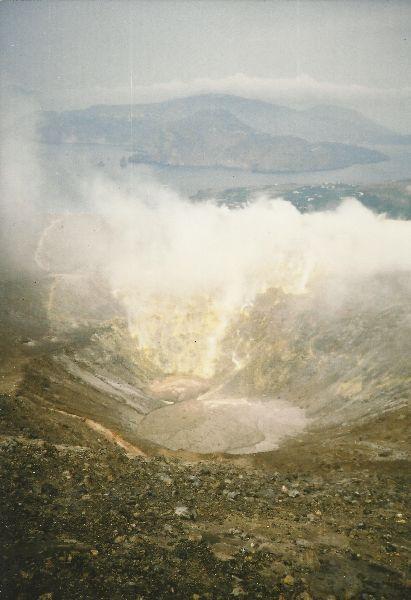 Kráter sopky Vulcano.