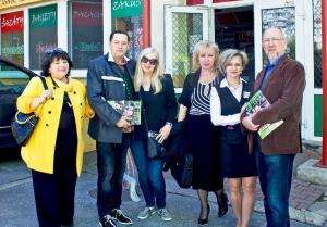 Novinári so zást. riaditeľa J. Krošlákovou