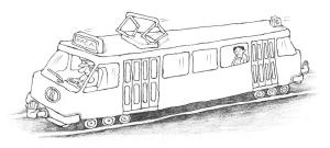 Električka do raja, ilustr. Vanek