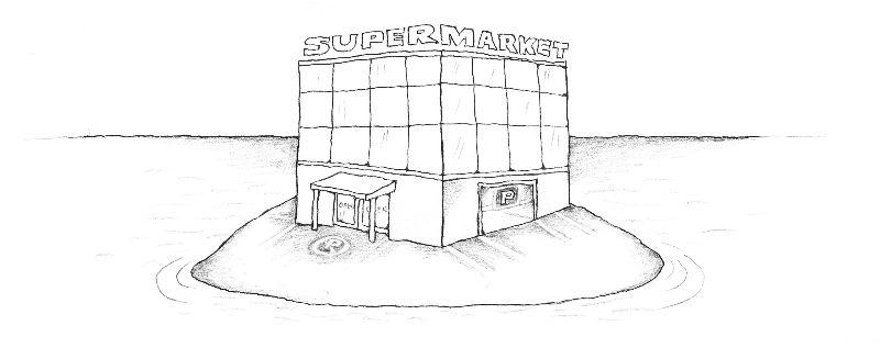 Supermarket, ilustr. Vanek