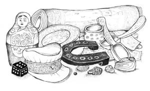 Suveníry, ilustr. Vanek