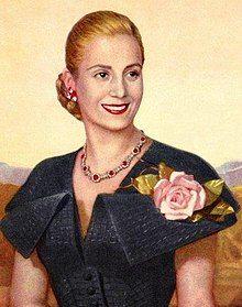 Manželia Horváthovci z Radošiny a Evita Perón